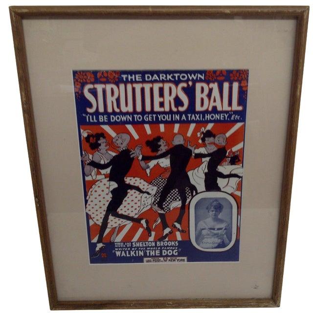 The Darktown Shutter's Ball Framed Sheet Music For Sale