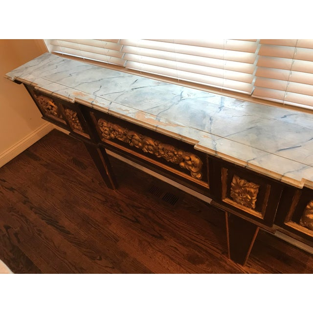 Antique Narrow Neoclassical Italian Console Table For Sale - Image 9 of 12