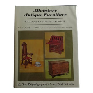 Vintage 'Miniature Antique Furniture' Book, With Photographs For Sale