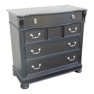 Vintage Traditional Black Highboy Dresser For Sale