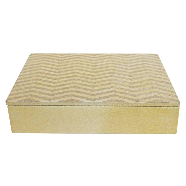 Ivory and Brown Shagreen Box For Sale