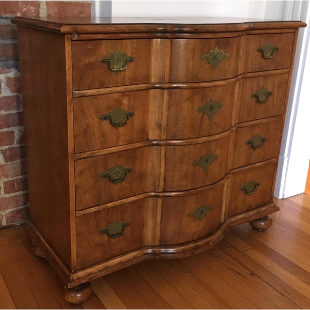 Mid 20th Century Baker Furniture/Milling Road Bow-Front Chest of Drawers For Sale - Image 5 of 12