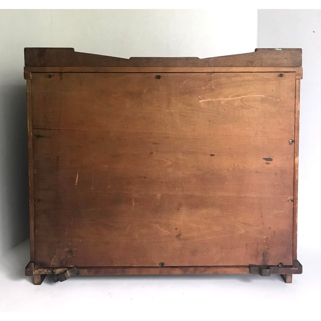 Antique Wood and Glass Display Cabinet For Sale - Image 4 of 10