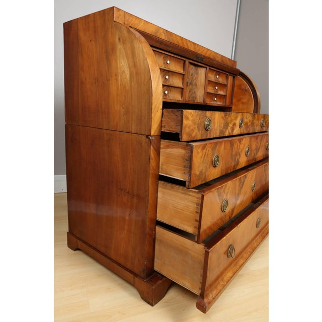 Early 19th Century Biedermeier Mahogany Root Secretaire, Circa 1820 For Sale - Image 5 of 10