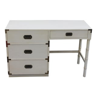 1970's Dixie Mid Century Campaign Writing Desk For Sale