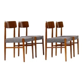 1960s Danish Modern Teak Dining Chairs - Set of 4 For Sale