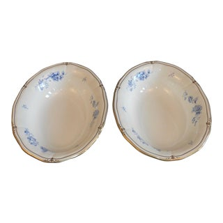 Ashbury Wedgwood Bone China Oval Vegetable Serving Bowls Made in England - Set of 2 For Sale