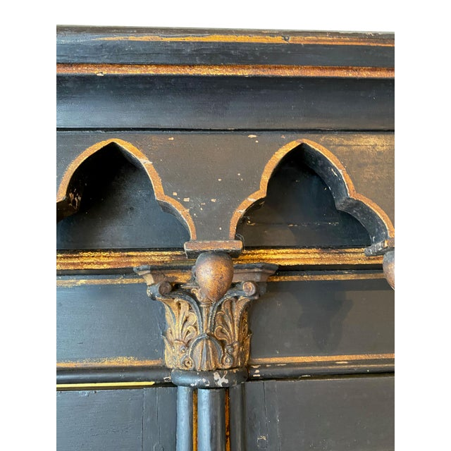 Antique Gothic Style Cabinet For Sale - Image 4 of 6