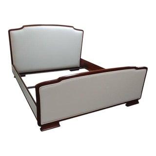 Art Deco Henredon Furniture Barbara Barry Reverie Walnut Upholstered King Bedframe Preview