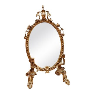 19th C. Italian Girandola Gesso Table Mirror For Sale