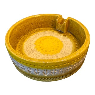 Yellow and Sunny Aldo Londi Bitossi Ashtray by Raymor Imports For Sale