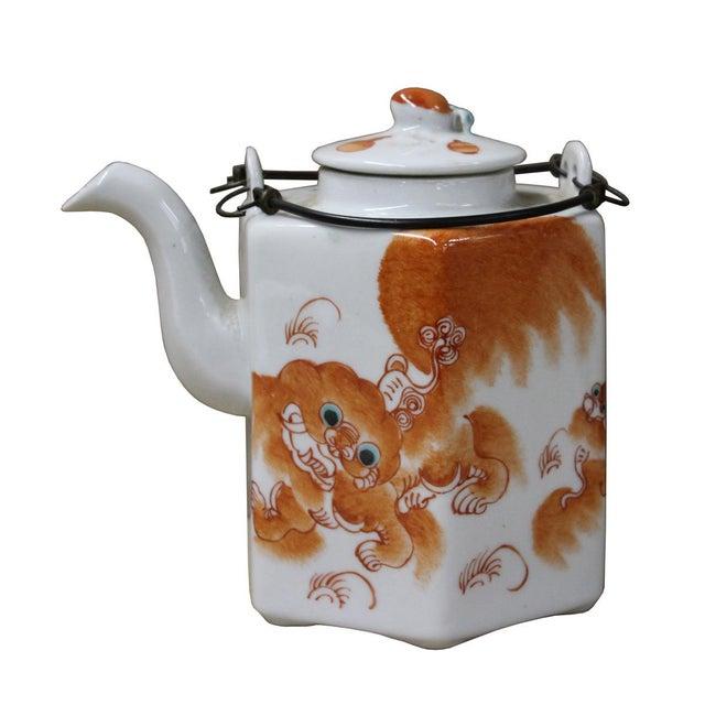 Foo Dog Porcelain Decorative Teapot - Image 6 of 6