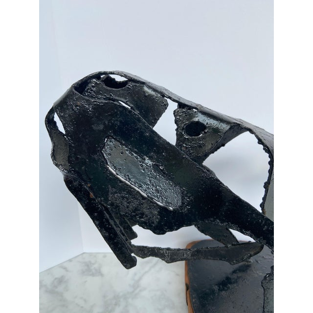 Mid-Century Modern 1960s Mid-Century Brutalist Horse Head Sculpture For Sale - Image 3 of 10