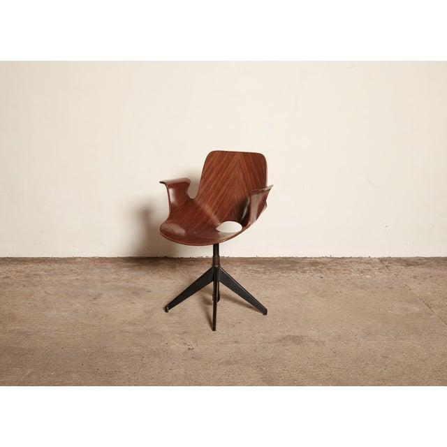 Brown Vittorio Nobili for Fratelli Tagliabue Desk Chair, Italy, 1950s For Sale - Image 8 of 8