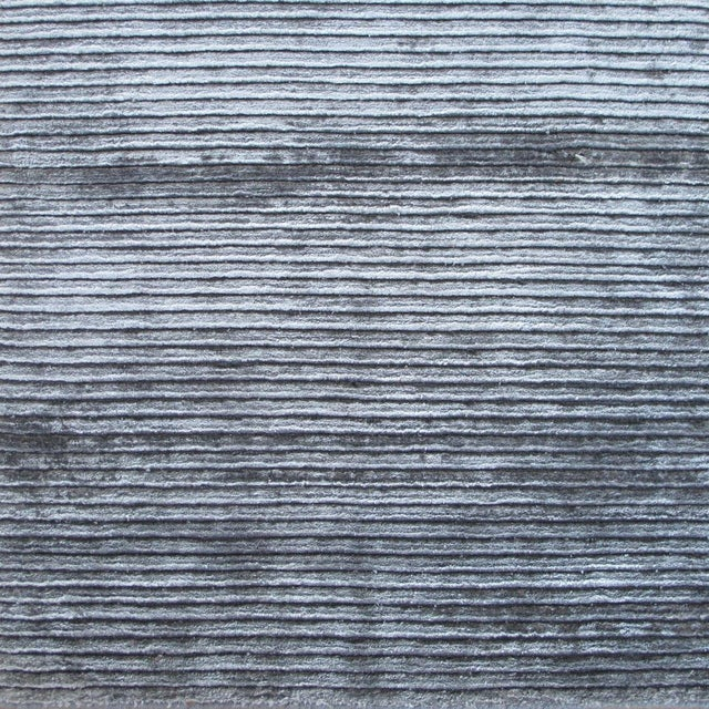 Cut and looped pile modern striped pattern with colors that shimmer - charcoal, silver, gray. Custom orders for size,...