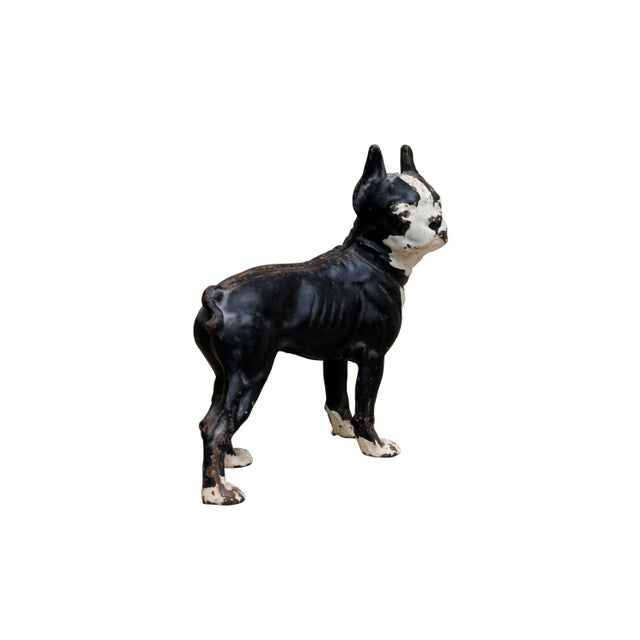 Boho Chic Cast Iron French Bulldog Doorstop For Sale - Image 3 of 8
