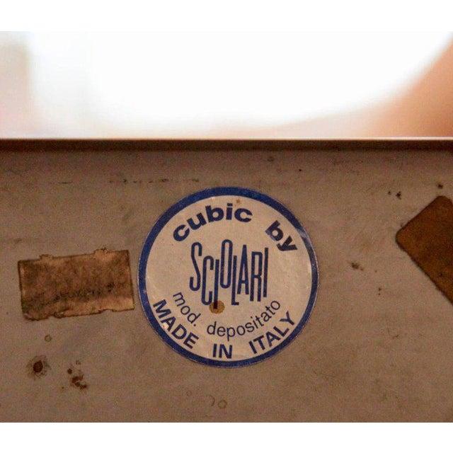 "Chrome Gaetano Sciolari Chrome ""Cubic"" Chandelier For Sale - Image 7 of 8"