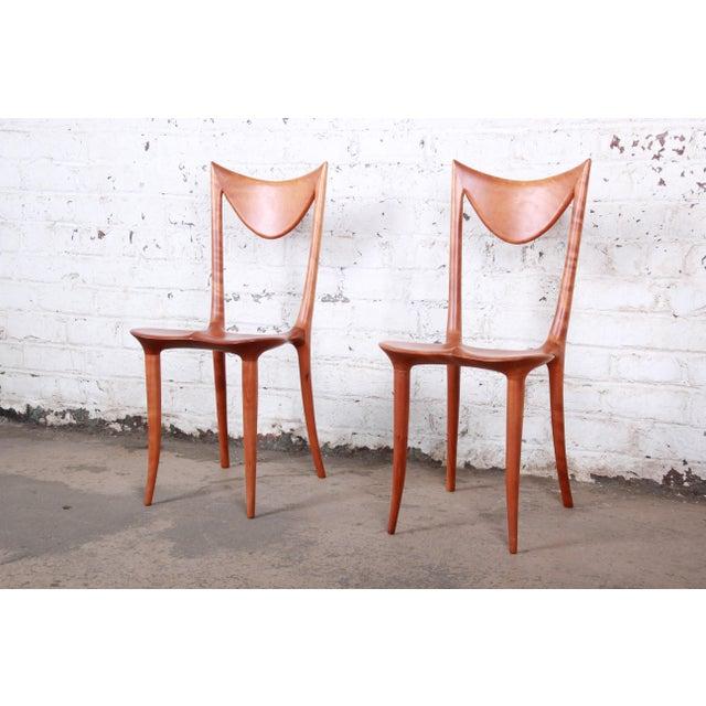 "Oskar Kogoj Studio Craftsman Sculptural ""Venetia"" Chairs - a Pair For Sale - Image 13 of 13"