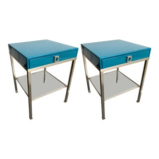 Pair of Lacquered Side Tables by Guy Lefevre for Maison Jansen. France, 1970s For Sale