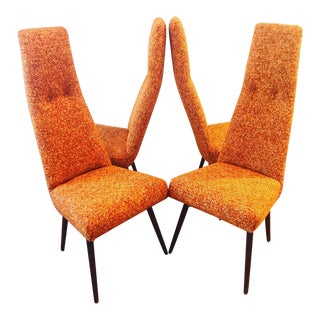 Mid-Century Modern Adrian Pearsall High Back Dining Chairs - Set of 4 For Sale
