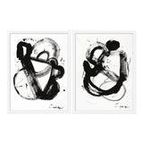 """Image of Medium """"Noir Et Blanc, Pair"""" Print by Lesley Grainger, 38""""x25"""" - A Pair For Sale"""