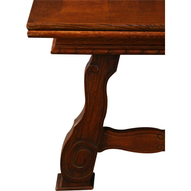 Vintage French Renaissance-Style Dining Table For Sale - Image 10 of 12