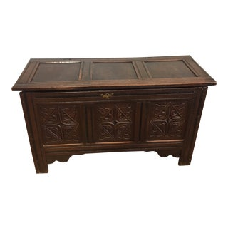 17th C. Oak Coffer For Sale