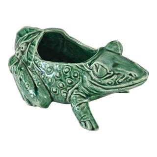 "Green 8"" McCoy Frog Catchall For Sale"