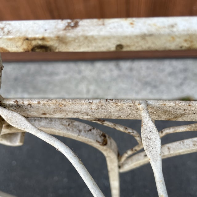 Metal Mid 20th Century Metal Plant Stands or Tables - a Pair For Sale - Image 7 of 8