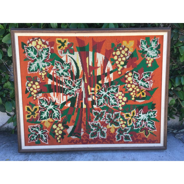 Colorful Jungle Inspired Needlepoint - Image 3 of 6