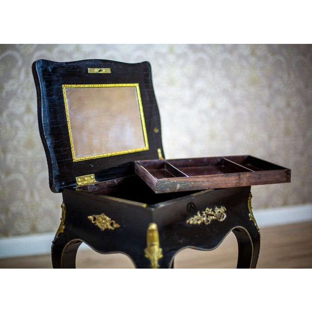 19th Century Napoleon III Mahogany Sewing Table For Sale - Image 4 of 11