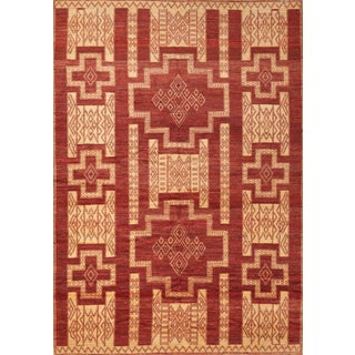 Schumacher Kamila Area Rug in Hand-Knotted Wool Silk, Patterson Flynn Martin For Sale