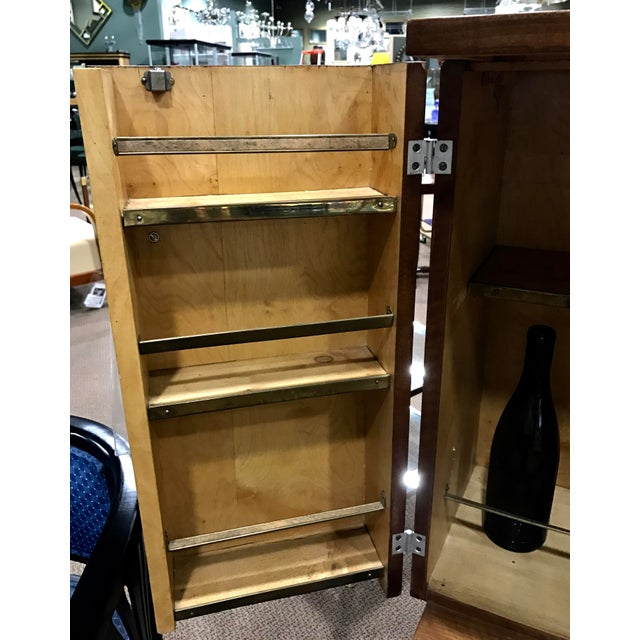 Art Deco Wooden Cabinet on Metal Stand - Image 6 of 9