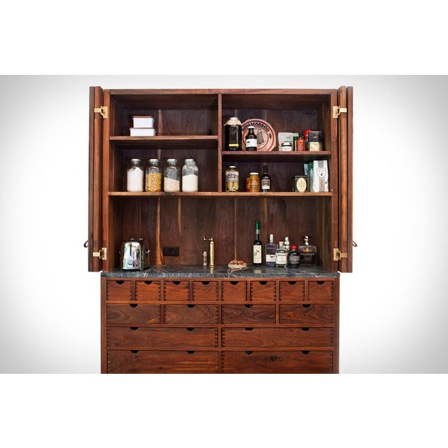 Designed by Samuel Moyer. Hudson Woods cabinet by Lang Architecture and Sam Moyer. Black Walnut, Brass, Marble, Oiled...