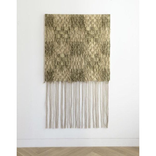 Modern Oyyo Weaving 02 - Olive/Green For Sale - Image 3 of 3