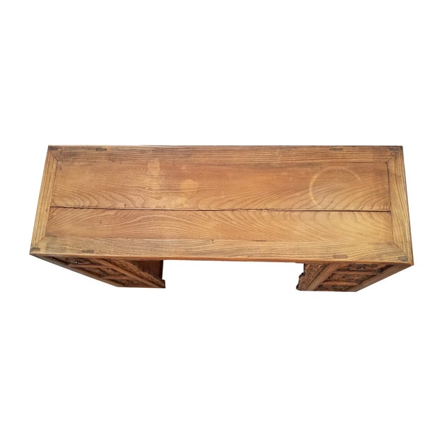 Vintage Asian Carved Desk - Image 3 of 7