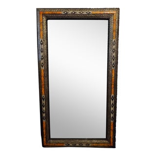 Moroccan Chaabi Marrakech Rectangular Inlay Mirror For Sale