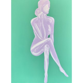 Lindsey Weicht Sitting Female No.7 Contemporary Painting For Sale