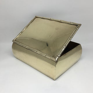 Vintage Brass Bamboo Trimmed Box Preview