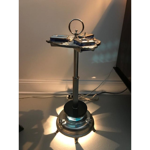 Art Deco Standing Ashtray with Illuminating Light For Sale In New York - Image 6 of 11