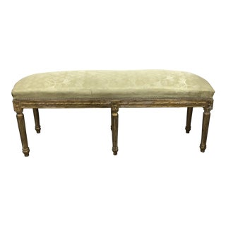 Vintage Giltwood French XVI Long Bench