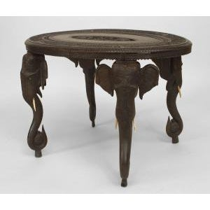 Asian Burmese Style Ebony Low Center Table For Sale - Image 11 of 12