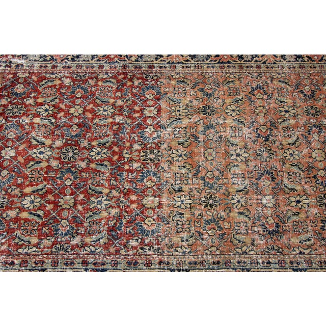 """Vintage Persian Distressed Rug, 4'3"""" X 19'7"""" For Sale - Image 11 of 12"""