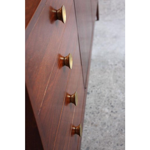 Mid-Century Walnut and Brass Credenza after Paul McCobb - Image 3 of 10