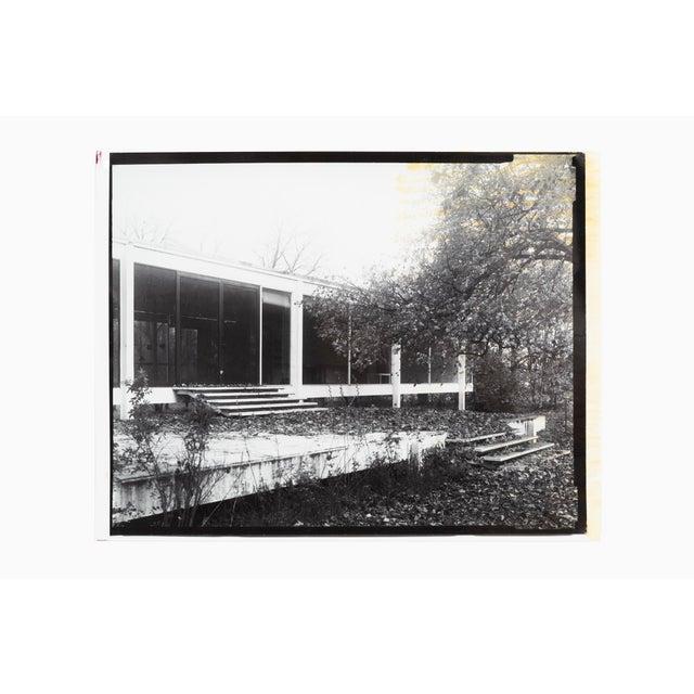 "Farnsworth House Early Decline #1 by Jim Zanzi, professor emeritus, SAIC gelatin silver print 17"" h x 22"" w proceeds from..."