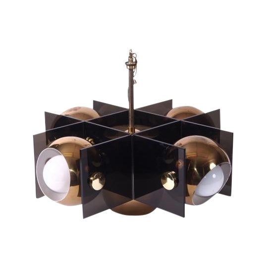 Mid Century Modern Five Light Fixture For Sale