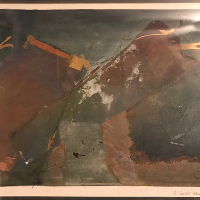 Starlie Sokol Hohne Signed Abstract Mixed Media Painting For Sale In Charlotte - Image 6 of 10