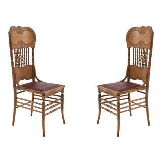 American Victorian Oak Side Chairs For Sale