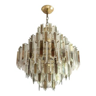 Vintage Mid-Century Hollywood Regency Art Deco Lucite 6 Tiered Chandelier For Sale
