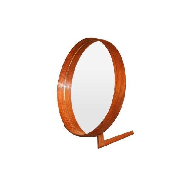 Mid-Century Modern Mid Century Uno and Osten Kristiansson Teak Table Mirror Luxus Sweden For Sale - Image 3 of 12
